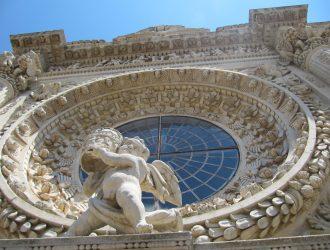 Nicoli spa restauro rosone Basilica Santa Croce Lecce Aver Cura
